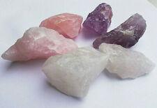 150g WasserSteine Roh Edelsteine Amethyst,Bergkristall,Rosenquarz BasisMischung