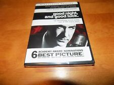 GOOD NIGHT, AND GOOD LUCK GEORGE CLOONEY ROBERT DOWNEY JR SEALED DVD NEW