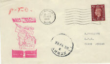 AVIATION : 1938 MAILS to INDIA -NEWPORT to  TRANSJORDAN stage cover