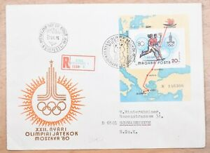 Mayfairstamps Hungary 1980 Olympics Souvenir Sheet Registered First Day Cover ww