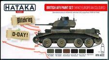 Hataka Hobby Paints BRITISH AFV WWII EUROPEAN COLORS Acrylic Paint Set
