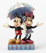 Disney Traditions Minnie And Mickey Rainy Day Romance Figurine 20cm 4054280 New