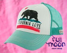 New Billabong Women's Pit stop California Love Seafoam Snapback Trucker Hat Cap