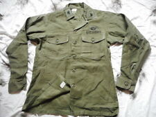 US ARMY ISSUE UTILITY SHIRT 1974 VIETNAM war og107 PARATROOPER PARA AIRBORNE L