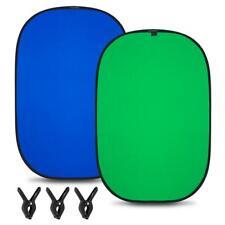 Lightweight Reversible Popup Blue Green Screen Background Panel 5x6.5ft New