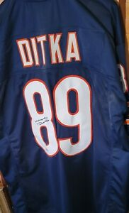 MIKE DITKA AUTOGRAPHED  NAVY BLUE JERSEY XL STITCHED