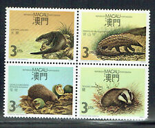 Macau 1988 Protected mammals set in block of 4 unmounted mint as per scan