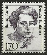 Germany 1988 MNH - Famous Women - Sociologist Hannah Arendt - 170 Pf.