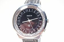 "NEW OLD STOCK Russian watch ""The Raketa"" 24 Hour dial. Time zone design. Black"