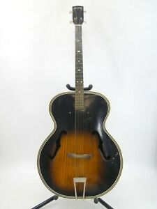 Vintage Harmony Archtop Acoustic Tenor Guitar H1215 For Restoration