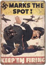 "RARE World War II, Hitler, Nazi Germany 10"" x 7"" reproduction metal sign"