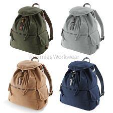 Quadra Vintage Canvas Backpack Travel Rucksack Shoulder Bag Backpacking (QD612)