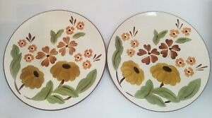 "Set of 2 - STANGL First Love 10-1/4"" Dinner Plates with Daisy Flowers - Vintage"