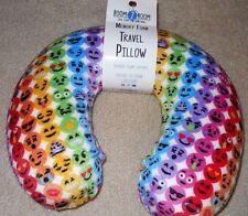 NWT rainbow Emoji faces memory foam neck pillow car plane travel