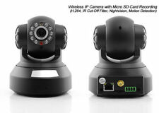 IP CAM CAMERA TELECAMERA WIRELESS WIFI INFRAROSSI MOTORIZZATA IPCAM REGISTRA SD,
