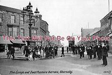YO 267 - Five Lamps & Swarthamore Terrace, Thornaby, Yorkshire c1916 - 6x4 Photo
