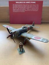 WW2 Japanese IJAAF KI-84 Hayate (Frank) Model Airplane & Figure - Museum Pieces