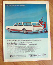1967 Oldsmobile Vista-Cruiser Wagon Ad  Skiing Theme
