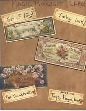 LOT OF~12 Vintage look LABELS~ SAVON~FRENCH~PARIS~primitive labels ~set #1