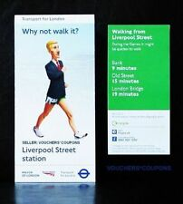 TFL London 2012 Olimpiadi Londra Walking Mappa Liverpool STREET STATION souvenir