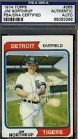 Jim Northrup Signed 1974 Topps Psa/dna Certed Autograph Authentic