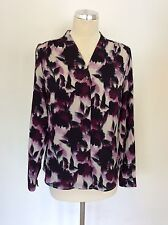 BNWT EASTEX PURPLE FLORAL PRINT V NECK BLOUSE SIZE 10