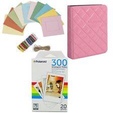 Polaroid PIF300 Photo Paper (20 Sheets) + Colorful Photo Frames + Photo Album