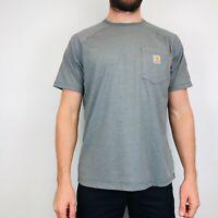 Carhartt Force T-Shirt Men's Large Grey Logo Pocket Tee
