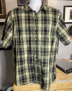 Outdoor Life Men's Size Large, Button Up Short Sleeve Shirt, Soft Twill Cotton