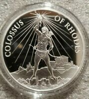 1 oz .999 Silver 7 wonders of the ancient world #1 Colossus of Rhodes new series