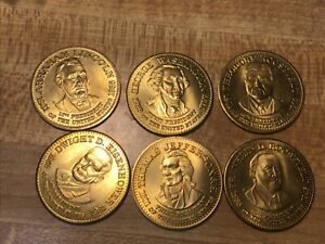 6 different President Tokens or Medals