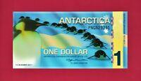 BEAUTIFUL ANTARCTICA UNC POLYMER NOTE -  ONE 1 DOLLAR 2011