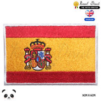 Spain National Flag Embroidered Iron On Sew On Patch Badge For Clothes etc