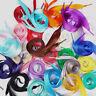 1 Pair Multi-colors Ribbon Satin Shoelaces Shoe Laces Shoe Strings Fashion