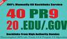40 PR9 + 20 .EDU-.GOV Backlinks From Authority Domains