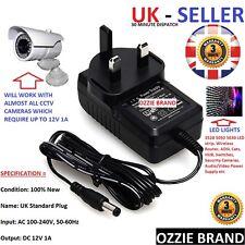 Mains Reino Unido 12V/1A Conmutación Adaptador De Fuente De Alimentación AC 100-240V Para Cctv/Luces Etc