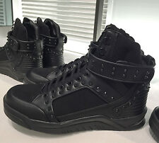 ZARA MAN BLACK STUDDED HIGH TOP SNEAKERS  SIZE:EU 39, UK 5, US 6