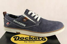 Dockers Men's Sneakers Lace Up, Trainers, Low Shoe, Blue, New