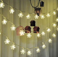 3M Solar 20LED Snowflakes Outdoor String Fairy Light Party Decor Wedding Party