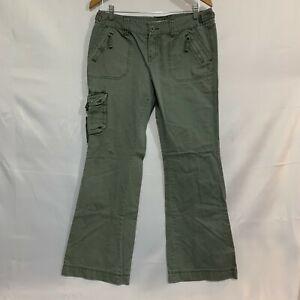 Aeropostale Mens Green Straight Leg Regular Fit Cotton Cargo Pants Size 9/10 R