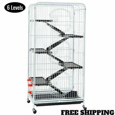 Ferret Cage Large Pet Cage 6 Levels Rolling Small Rabbits Guinea Pig Rat Iguana