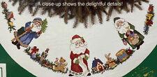 New ListingSunset Counted Cross Stitch Old Fashioned Christmas Santas Tree Skirt # 18326