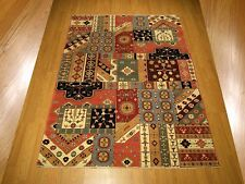 6 x 8 High Quality Handmade Vegetable Dyes Hand Spun Fine Wool Afghan Kazak Rug