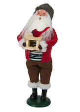 Byers Choice Santa Claus Cardinal & Bird Feeder Signed JB Goes w/Cardinal Family