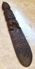 1906 Carved Wooden Letter Opener Made From Winchester Cathedral Foundation Wood