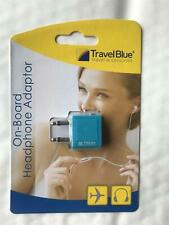 Travel Blue Airline Headphone Adaptor Convert Earphones for Flight Entertainment