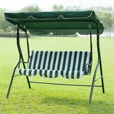 Outdoor Canopy Swing Patio Chair Lounge 3-Person Seat Hammock Porch Bench Green