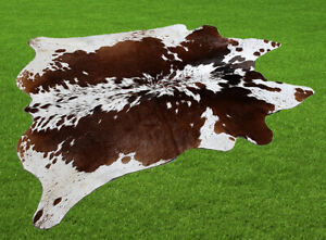 "New Cowhide Rugs Area Cow Skin Leather 23.36 sq.feet (58""x58"") Cow hide U-5965"