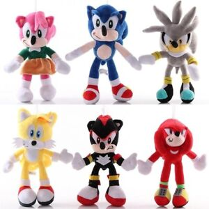 Anime 28cm Sonic Plush Soft Toys Kids Cotton PP Blue Plush Stuffed Birthday Gift