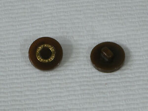 """Tory Burch brown gold engraved replacement one button 7/8"""""""